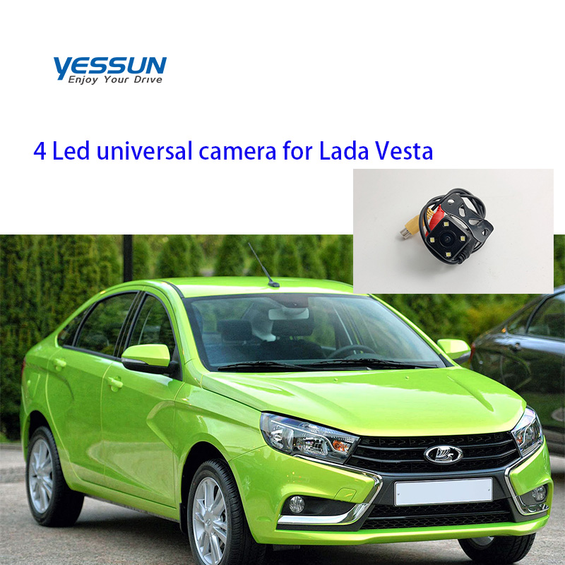 Yessun Car Rear View Camera 4 LED Night Vision Reversing Auto Parking Monitor CCD Waterproof Universal For Lada Vesta 2015~2019
