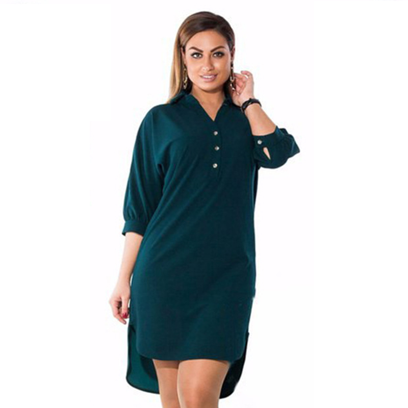<font><b>5XL</b></font> <font><b>6XL</b></font> Fashion <font><b>Women's</b></font> <font><b>Clothing</b></font> <font><b>Plus</b></font> <font><b>Size</b></font> Summer Autumn Turn Down Collar Split <font><b>Dress</b></font> Blue <font><b>Sexy</b></font> Irregular Large <font><b>Size</b></font> Shirt <font><b>Dress</b></font> image