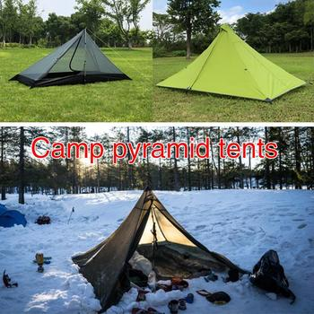 Pyramid Tent Camping Tent Outdoors Bedding Oxford Cloth Single Mosquito Net Hiking Folding Tent Hunting Hanging Bed Travel