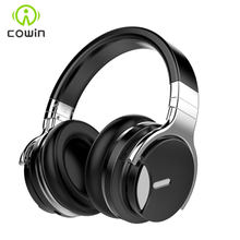 Cowin E7MD Wireless Bluetooth Headphones Active Noise Cancelling Over-Ear Handsfree headset with Mic for phone 30H play time(China)