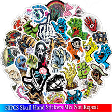 50PCS Terror Rock Sticker Skeleton Stickers for DIY Travel Case Laptop Fridge Bicycle Phone Car Guitar Stickers(China)