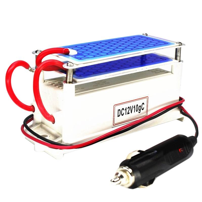 Ozone Generator Car 12V 10G Portable Ceramic Plate Air Purifier Air Sterilizer Car Ozone Air Air Cleaner Ozonizer Odor