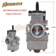 цена на PowerMotor JK PZ34J Motorcycle 34mm Carburetor For 177mm Zongshen 250cc Water Cooled 4 Valve Engine NC250 Dirt Bike ATV Quad