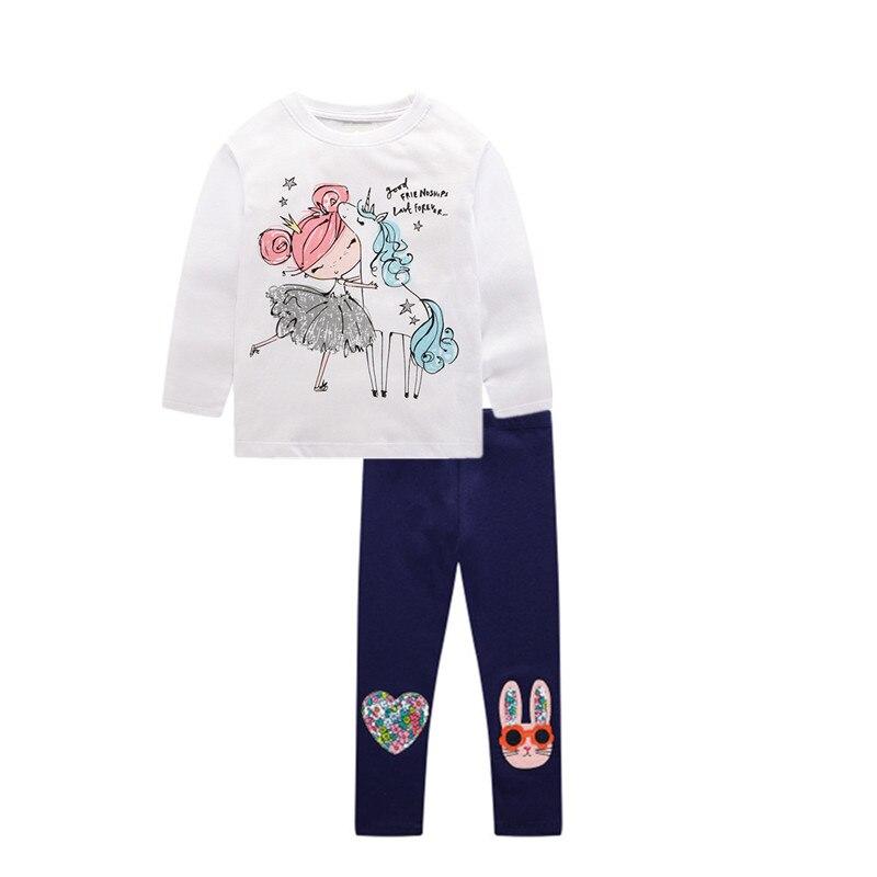 crianças dos desenhos animados camiseta e calças