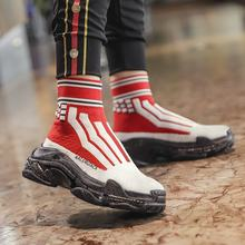 Summer High Top Socks Boots Breathable Stretch Sneakers Women Fashion Platform Sneakers Zapatillas Mujer Deportiva(China)