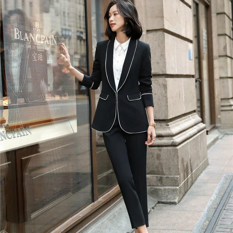 2020 Fashion Casual Women Blazer and Jackets Black Female Elegant Formal Office Work Wear OL Ladies Business Outerwear Clothes