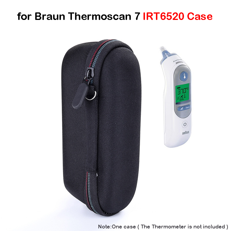 Thermoscan Case For Braun Thermoscan 7 IRT6520 & Braun Digital Ear Thermometer ThermoScan 5 IRT6500, EVA Hard Travel Storage