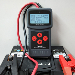 Image 4 - MICRO 200 PRO Car Battery Tester 12v 24v Multi Language Digital AGM EFB Gel Automotive Load Battery System Analyzer For Car Moto