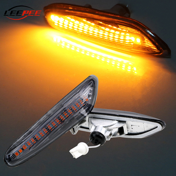 LEEPEE Car Indicator Turn Signal Lights DC 12V LED Side Marker Light For BMW E90 E91 E92 E60 E87 E82 E61 Auto Lamp Accessories image