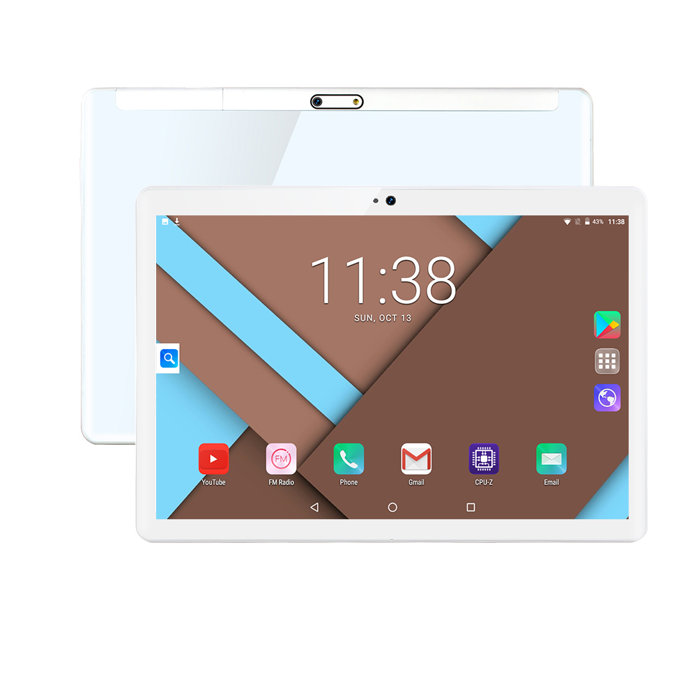 black White Tablet 6GB RAM 128GB ROM <font><b>MTK8752</b></font> Android 9.0 Octa Core 10 inch 8.0MP WIFI A-GPS 3G WCDMA 4G LTE IPS 1280 800 Tablet image