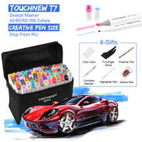 TOUCHNEW Dual Tips Sketch Markers for Drawing 40/60/80/168 Color Marker Pens 7th Alcohol Based Anime Art Supplies with 6 Gifts