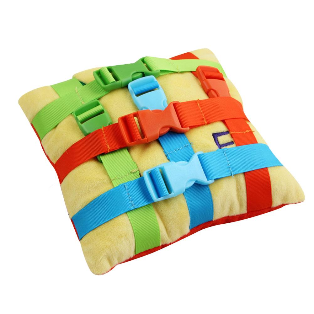 Kids Basic Life Skill Training Pillow Color Matching Pad Montessori Buckle Toy Baby Preschool Early Learning Educational Toys