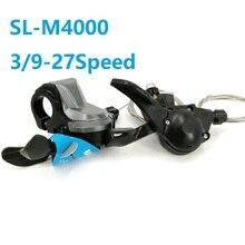 Велосипедные переключатели M4000 3/9 скорость 27 скоростей Рычаг переключения передач MTB горный велосипед переключатель складной велосипед аксессуары SL-M4000