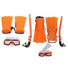 Máscara de buceo para niños, gafas de buceo, juego de aletas de Snorkel, gafas de buceo antiniebla, antideslizantes, natación con aletas, equipo de piscina