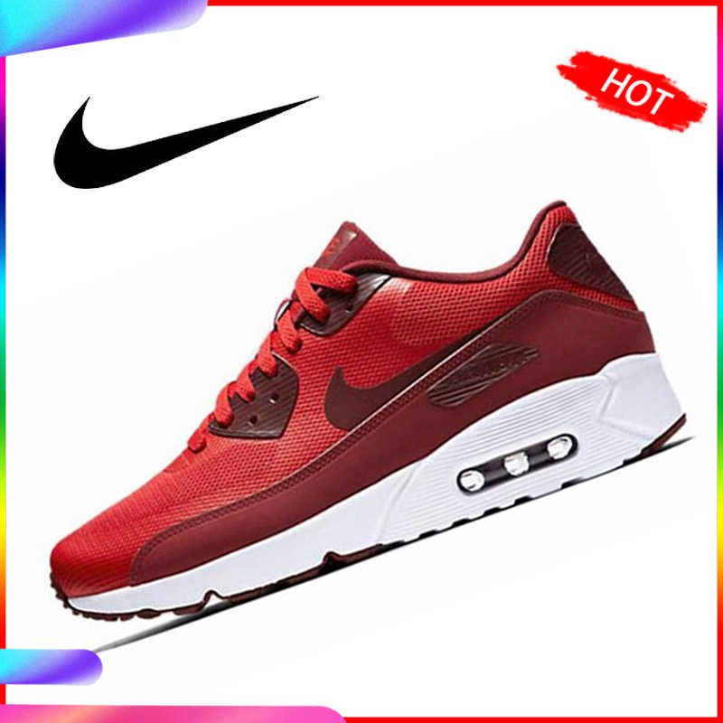 Original Authentic NIKE AIR MAX 90 ESSENTIAL Men's Running Shoes Classic Outdoor Sports Breathable Durable Sneakers AJ1285 403