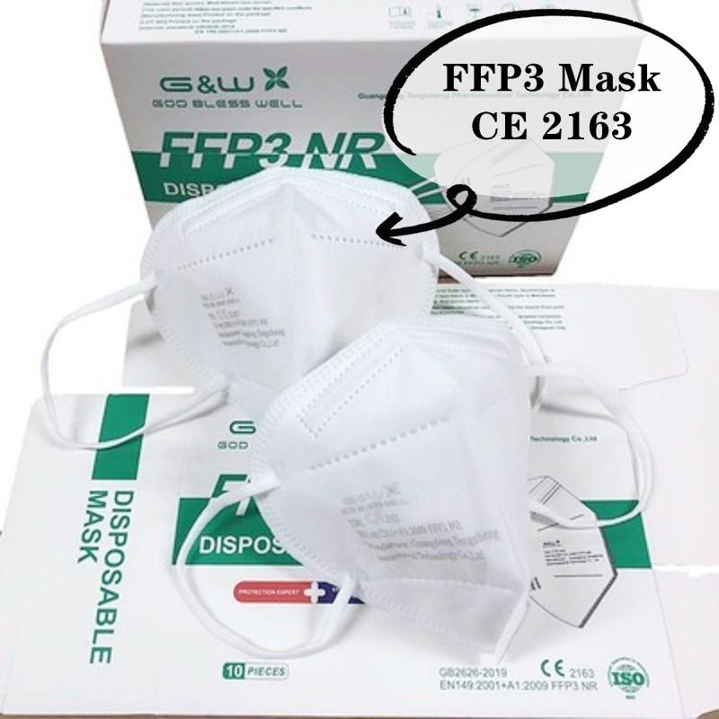 5 100 caixa do respirador dos pces ffp3 do protetor facial do ce da máscara para o adulto resuable com a filtragem alta do sistema multicamadas embala individualmente|Másc.|   -