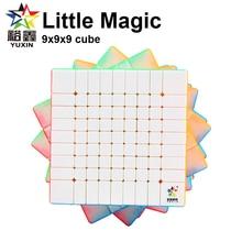 Yuxin Cube Little Magic 9x9x9 Magic Speed Cube Professtional Stickerless Zhisheng 9x9 Puzzle Cube Educational Toys lanlan bread cube 7 7 7 magic cube puzzle cube educational toys 83mm