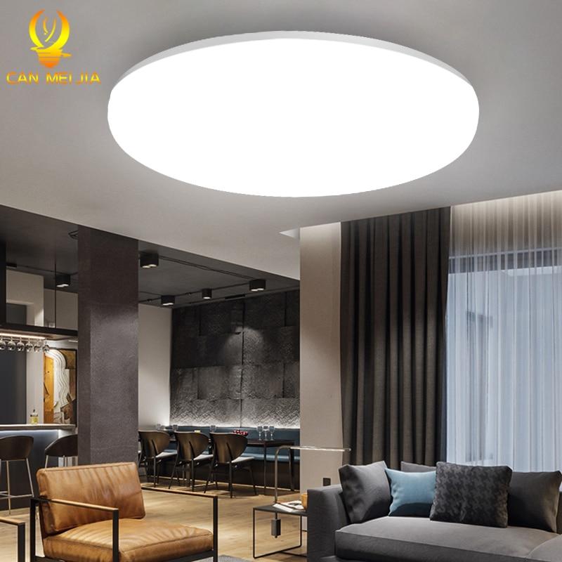 Led plafonniers plafond moderne à LEDs LED plafonnier lumière 220V 15W 20W 30W 50W froid chaud éclairage blanc Surface montée pour la cuisine à la maison