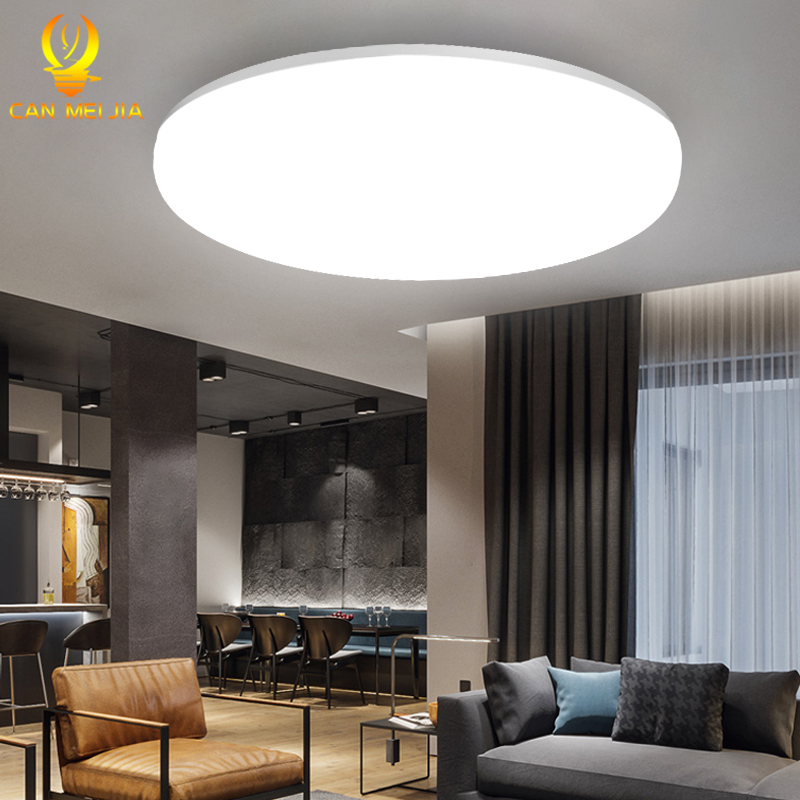 Luces de techo Led moderna lámpara de techo LED luz 220V 15W 20W 30W 50W superficie de iluminación blanca cálida fría montada para la cocina casera