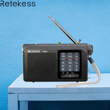 Retekess TR605 3 bands FM / MW / SW Portable Radio With Rechargeable Battery Super Bright LED Flashlight For Emergency Lighting 5 pcs portable radio retekess v 117 3 band fm am sw radio battery powered emergency receiver radio station f9207a