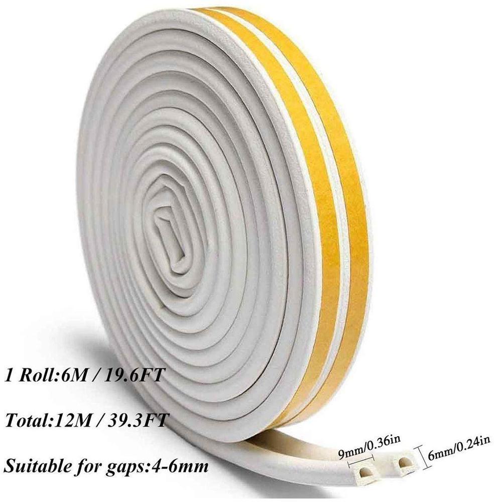 Lot Foam Draught Excluder Tape Draft Weather Seal Strip Insulation Door Window