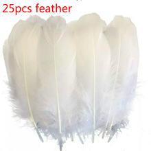 Горячая Распродажа 25 шт/упак 15 20 см белое перо высокое качество