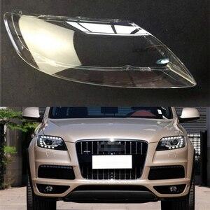 Image 1 - Audi Q7 용 자동차 전조등 렌즈 2006 2007 2008 2009 2010 2011 2012 2013 2014 2015 자동차 헤드 라이트 전조등 렌즈 자동 쉘 커버