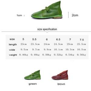 Tayunxing/обувь ручной работы; Женские туфли-лодочки из натуральной кожи на низком каблуке; Удобная женская обувь в стиле ретро; Большие размеры; w193-19/2020-1