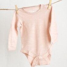 Merino wool baby rompers girls boys bodysuit newborn baby infant body clothes pa