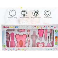 13 Baby Care Tools Healthcare Set Infant Grooming Kit Scissor Nail Clipper Comb Hair Brush ABS Thermometer Child Grooming