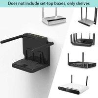 Casa Forte Cuscinetto Stabile Piccolo Dispositivo Universale Stand Facile Da Installare Angolo Regolabile Montato A Parete Ufficio TV Box Staffa Router