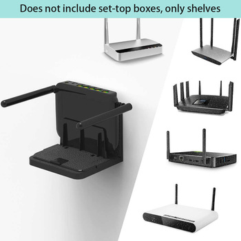 Soporte fuerte para el hogar, dispositivo pequeño estable, soporte Universal, fácil de instalar, ángulo ajustable, montado en la pared, TV Box, enrutador