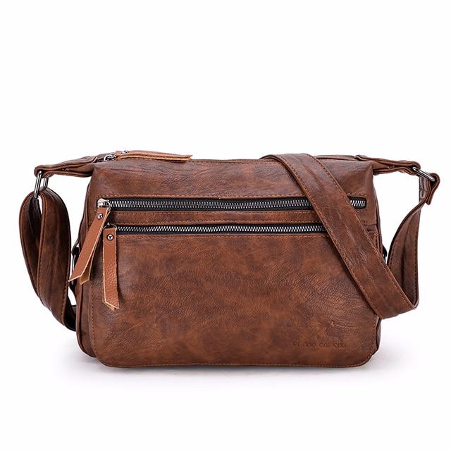Luxury กระเป๋าถือผู้หญิงกระเป๋าออกแบบ 2019 หญิงหนังนุ่มกระเป๋าสะพาย Sac A หลัก Crossbody กระเป๋าผู้หญิงกระเป๋า Flap vintage