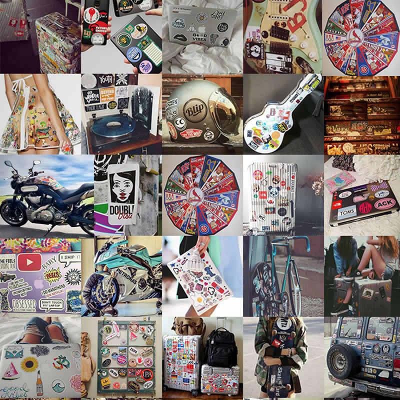 Мультфильм Фиолетовый классная наклейка скейтборд гитара Чемодан граффити Дети Водонепроницаемый Мотоцикл стикер Vsco Девушка Дети DIY игрушки