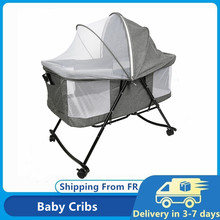 Removable Baby Nest Baby Bed Crib With Mosquito Net Foldable Babynest Bassinet Infant Sleep Children's Bed HWC