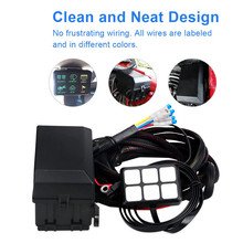 DC 12V 6 Gang Switch Panel Touch-Sensitive Screen LED Control With Wiring Kit Universal for Car Boat Truck Trailer