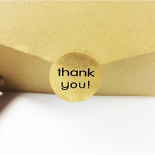 120pcs/lot vintage THANK YOU Series Round Kraft Paper Seal Stickers Handmade Product Decoration Scrapbooking