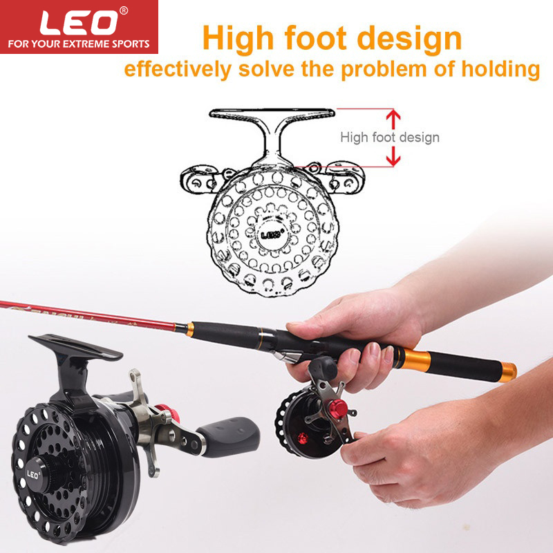 LEO DWS60 4 + 1BB 2.6:1 65MM Fly Fishing Reel Wheel With High Foot Fishing Reels Left Hand Fishing Reel Wheels