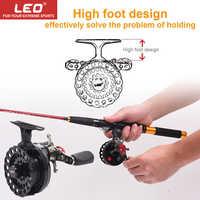 LEO DWS60 4 + 1BB 2,6: 1 carrete de pesca con mosca de 65MM con carretes de pesca de pie alto carretes de pesca de mano izquierda