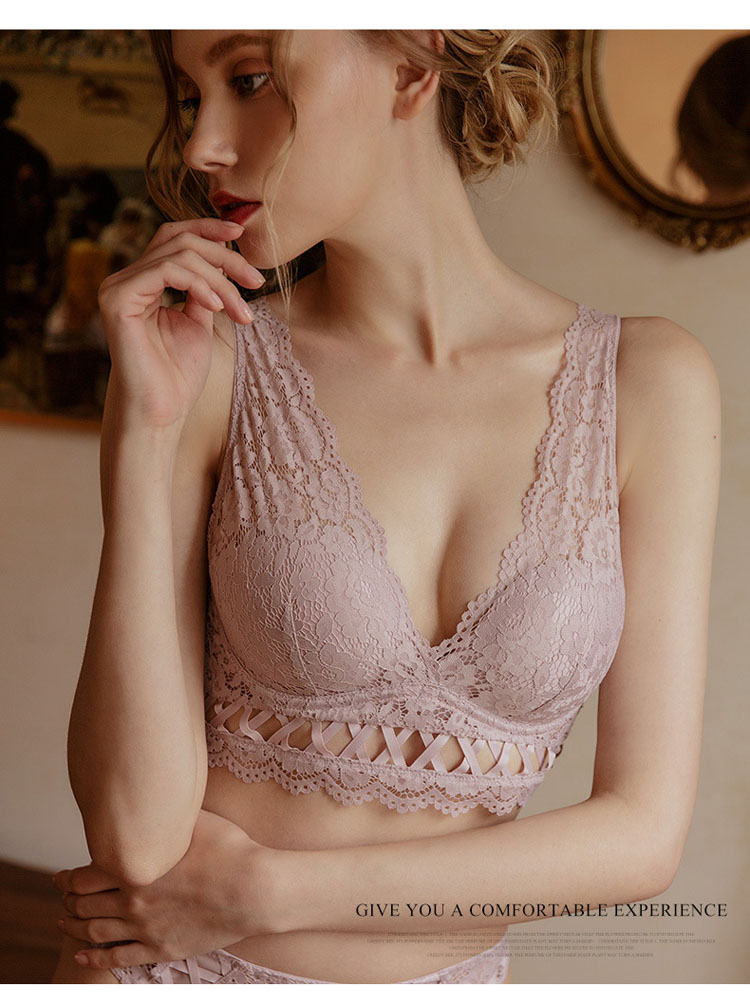 CINOON New Top High Quality Bra Set Gather Bras Deep V Brassiere Women Lingerie Set Lace Embroidery Push up Bra Panties Sets (3)