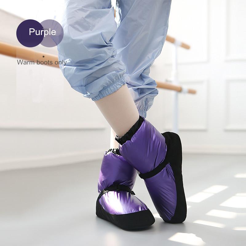 Warm Shoes for Girls Women Zapatillas De Ballet Winter Dance Ballerina Shoe Kids Warm Up Booties Castle Flo Point Warm Up Boots