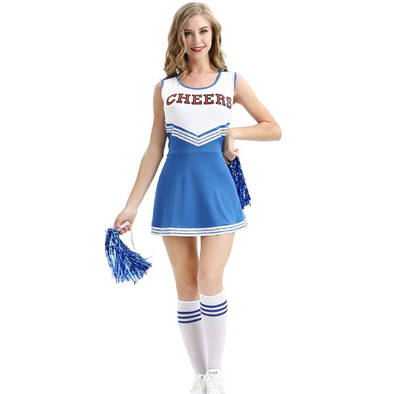 Sexy Girl School Cheerleader Fancy Dress Stage Performance Outfit Uniform High School Musical Costume Suit