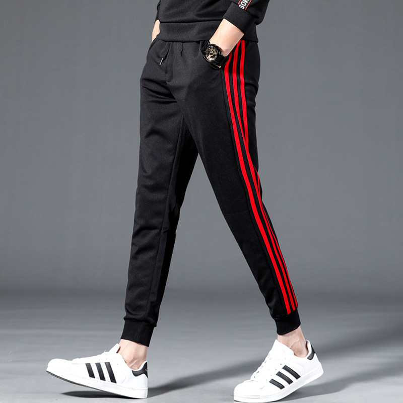 Casual Pants Men 2019 New Style Korean-style Trend Loose-Fit Beam Leg Capri Pants Students Popular Brand Versatile Sports Sweatp