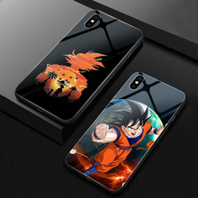 ciciber Phone Case Dragon Ball For iphone 11 Pro Max Tempered Glass Cover Cases for iphone XR X XS Max 7 8 6 6S Plus Funda Goku ciciber dragon ball phone case for iphone 11 pro max xr x xs max tempered glass cover cases for iphone 7 8 6 6s plus funda coque