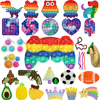 Push Bubble Rainbow Fidget Stress Relief Squeeze Toys For Kids Adult Squishy Sensory Anti Game Dimple Relax Toys Free Shipping