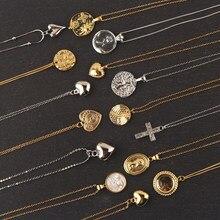 Cor do ouro 925 prata esterlina elizabeth avatar moeda redonda pingentes pingentes colar feminino encantos gargantilha moda boho jóias