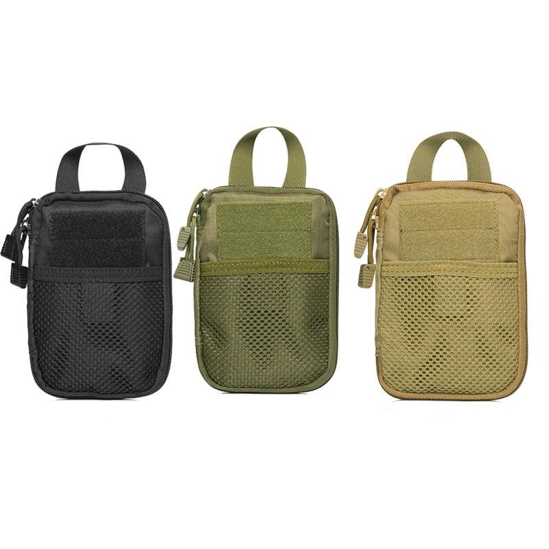 Pocket Wrap Men's Nylon Handbag Key Ditty Bag Multi-functional Molle Tactical Attached Accessories Bag Storgage Bag