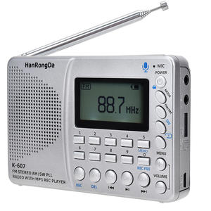 Full-Band-Receiver Music-Player Stereo-Radio Portable Headphone Jack-Recorder with Tf-Card