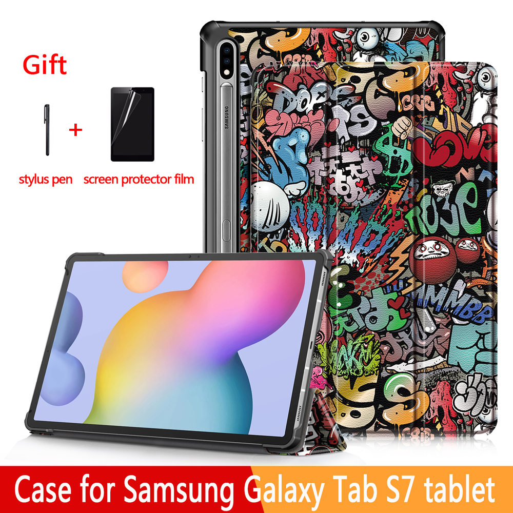 Case for Samsung Galaxy Tab S7 11 inch Tablet SM-t870/t875  Folding Stand Cover for Samsung Galaxy Tab S7 Plus Tablet Case