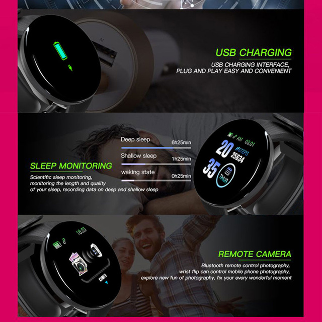 Sport Smart Watch Men Smartwatch Women Smart Watch Blood Pressure Heart Rate Monitor Waterproof Smartwatch Watch For Android IOS 4